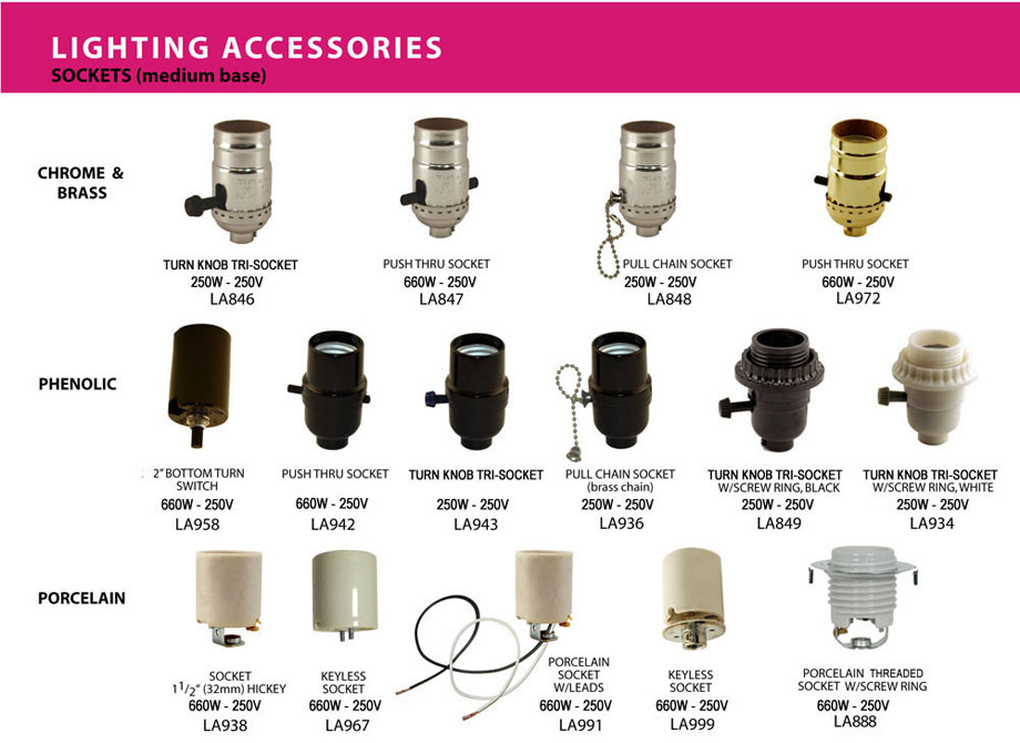 Incandescent Sockets Amp Adapters Atron Electro Industries